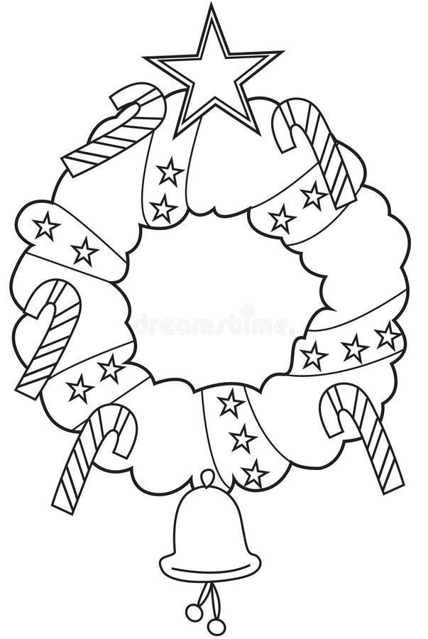 Kerze und Glaskugeln mit dem gezierten Zweig vektor abbildung