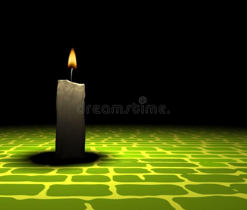 Kerzeleuchte lizenzfreie abbildung
