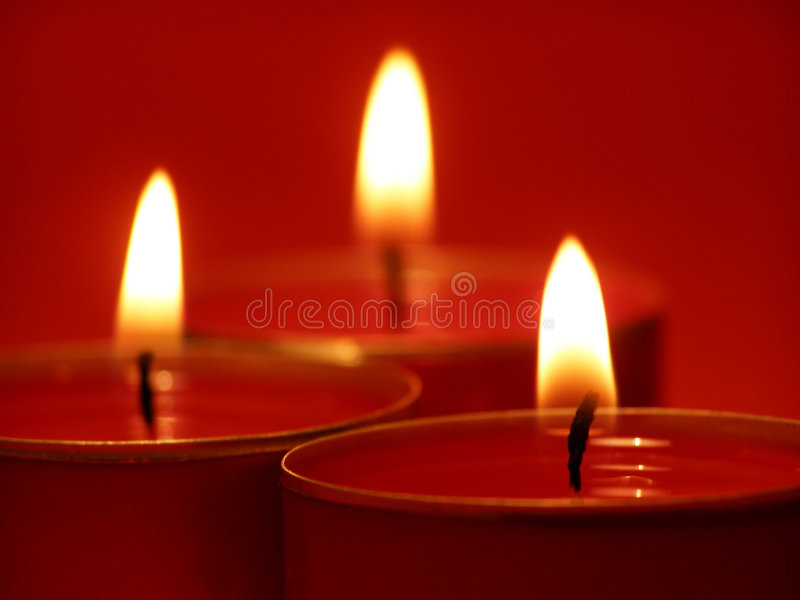 Kerzeleuchten stockfotografie