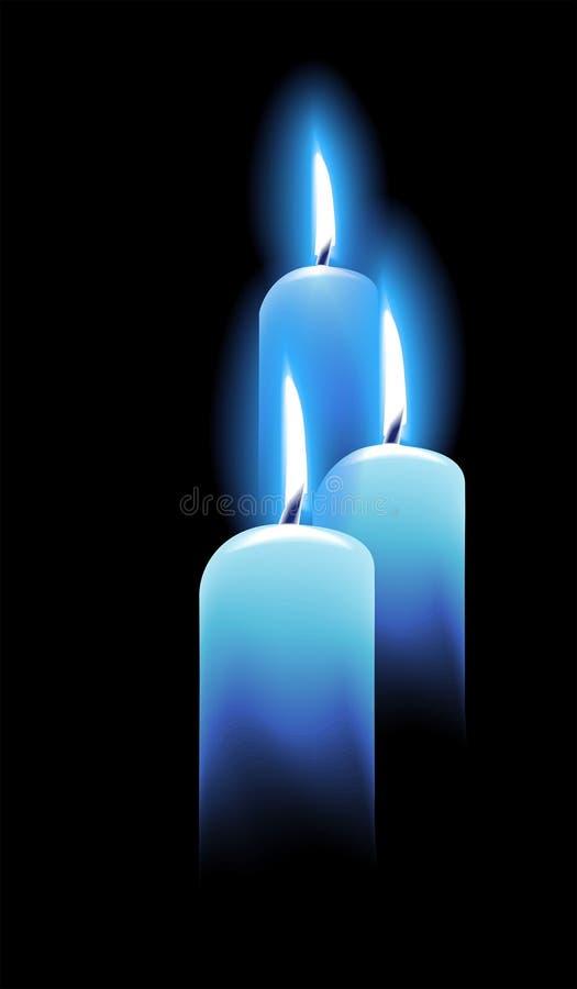 Kerzen auf Schwarzem stock abbildung