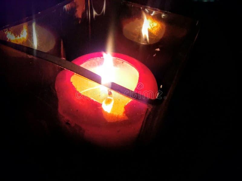 Kerzen-Glühen stockbild