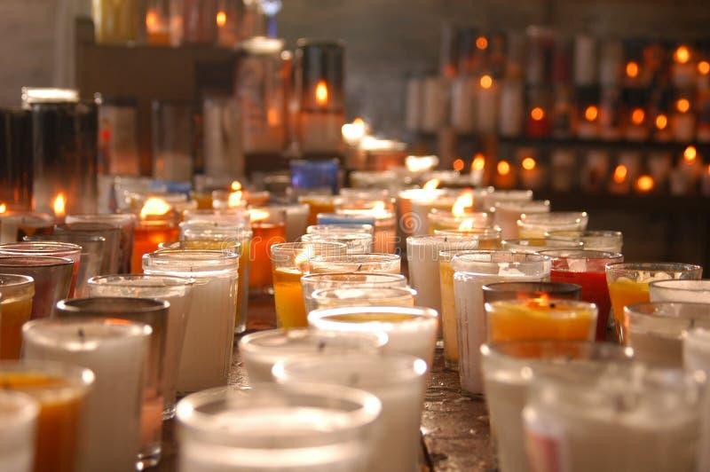 Kerzen Hoffnung lizenzfreie stockbilder