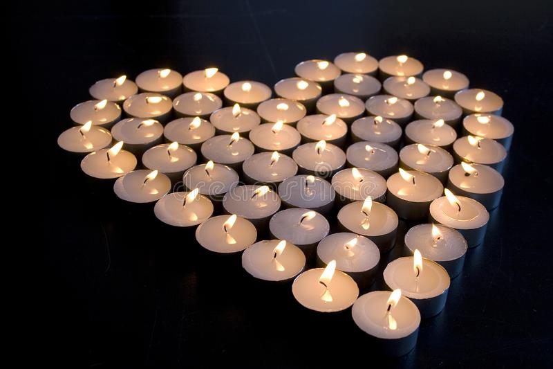 Kerzen-Liebe lizenzfreie stockfotografie