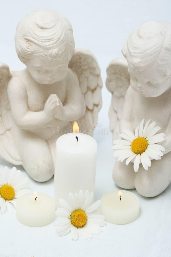 Kerzen noch Leben stockfotografie