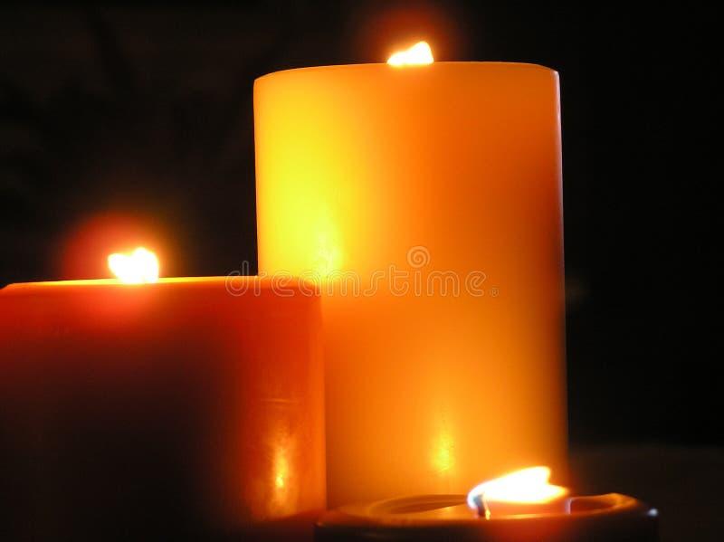Kerzen und Romanze stockbilder