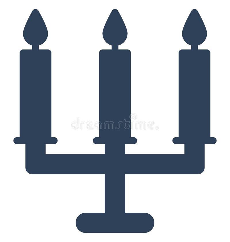 Kerzen Vektorikone, die leicht geändert werden oder redigieren kann stock abbildung