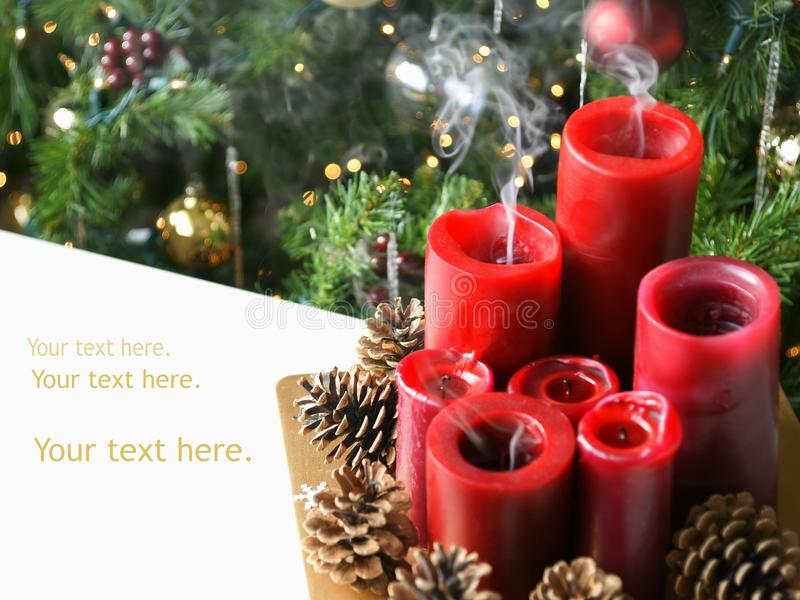 Kerzen Weihnachtsweihnachten- lizenzfreie stockfotografie