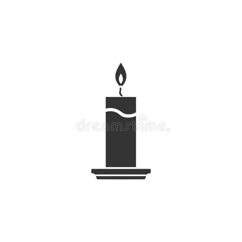 Kerzenikone flach vektor abbildung