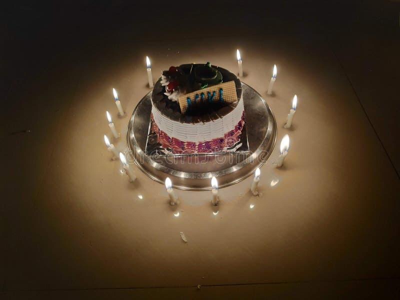 Kerzenkuchen lizenzfreie stockfotos