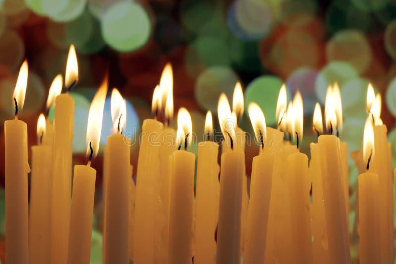Kerzenlichter stockfotografie