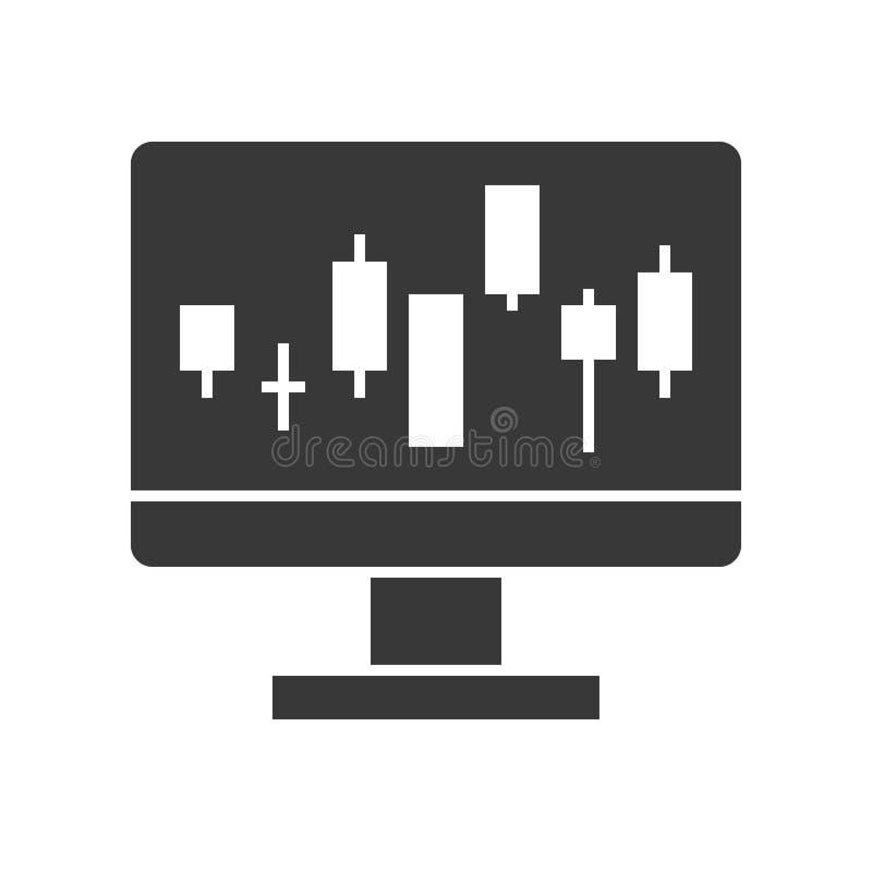 Kerzenständerdiagramm auf Bildschirm, Datenbericht oder marke auf Lager stock abbildung