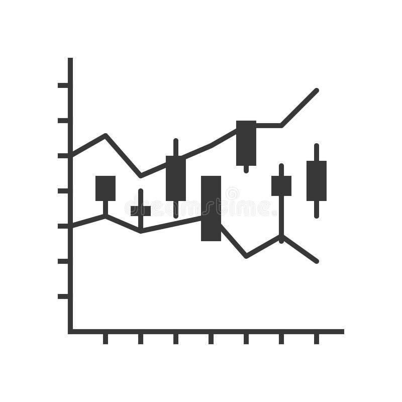 Kerzenständerdiagramm, Datenbericht oder Börseikonenkonzept lizenzfreie abbildung