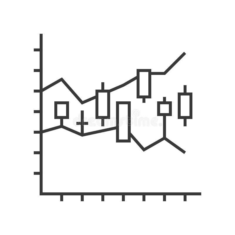 Kerzenständerdiagramm, Datenbericht oder Börseikonenkonzept, EDI vektor abbildung