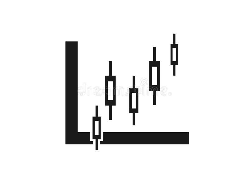 Kerzenst?nderdiagrammikone Auf lagerdiagramm Finanzdiagrammzeichen stock abbildung
