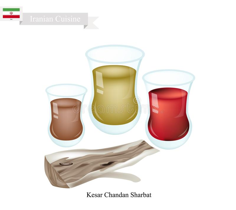 Kesar Chandan Sharbat, bebida popular en Irán libre illustration