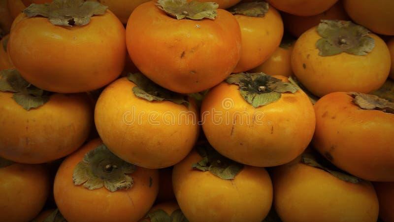 Kesemek - fruto doce do caqui imagens de stock
