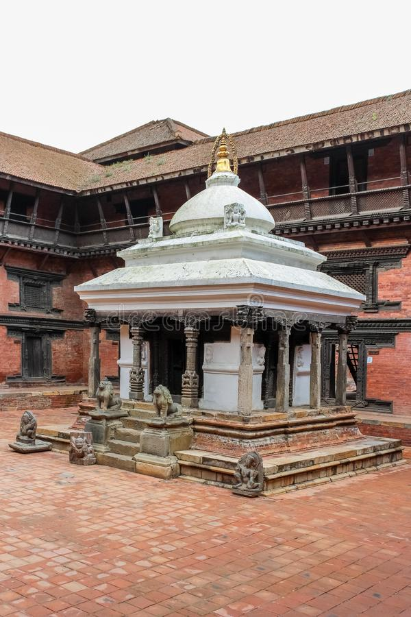 Keshav Narayan Chowk in a courtyard at Patan Museum, Nepal royalty free stock image