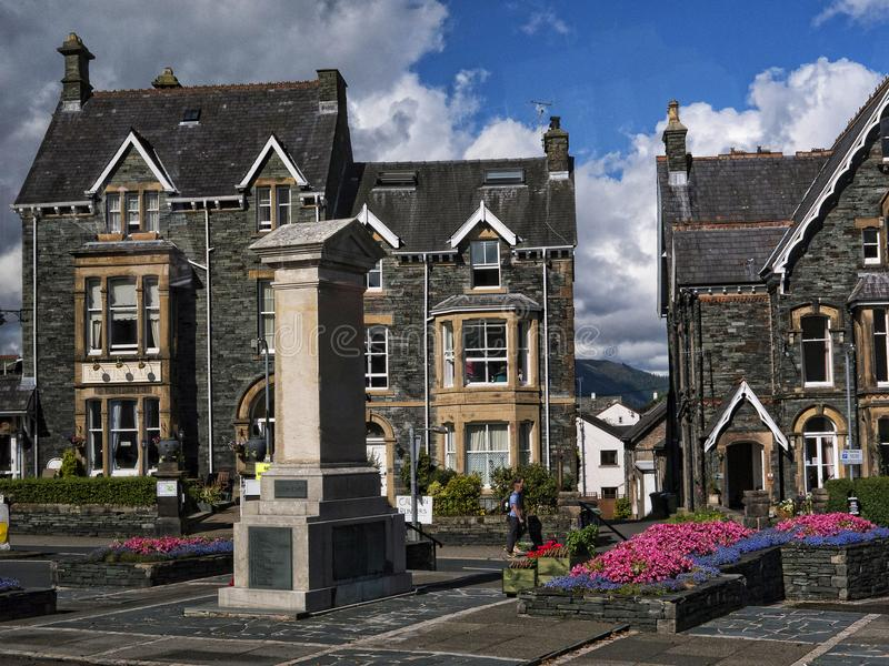 Keswick lies in north-western England, in the heart of the northern Lake District. Keswick is a market town. Keswick is a market town in northwest England stock photo