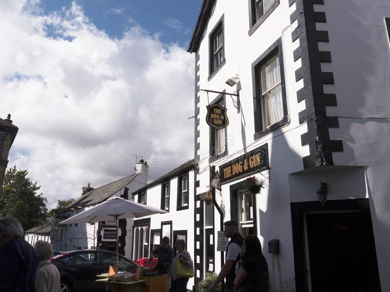 Pub in Keswick in north-western England, in the heart of the Lake District. Keswick is a market town in northwest England's Lake District National Park stock images
