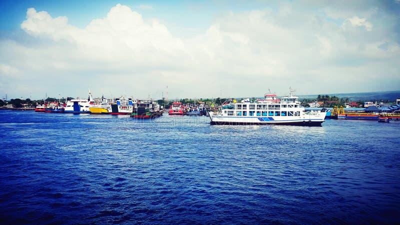 Ketapang Port Banyuwangi royalty free stock photography