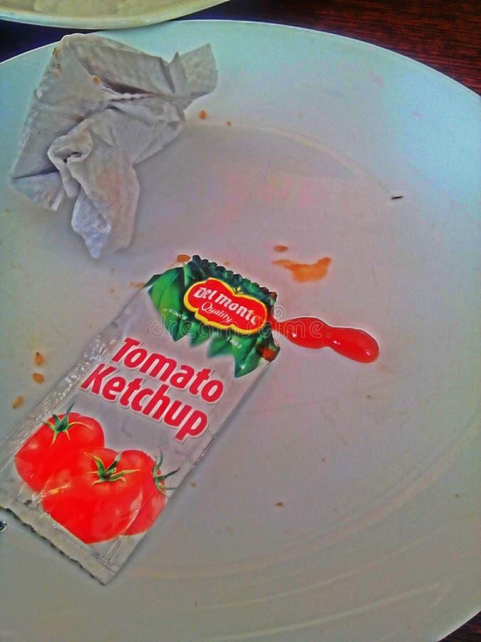 Ketchap vermelho fotografia de stock royalty free