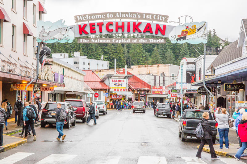 Ketchikan Αλάσκα στοκ φωτογραφίες με δικαίωμα ελεύθερης χρήσης