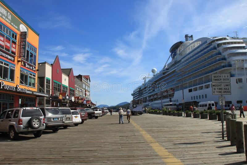 Download Ketchikan editorial stock photo. Image of mountain, dock - 23386303