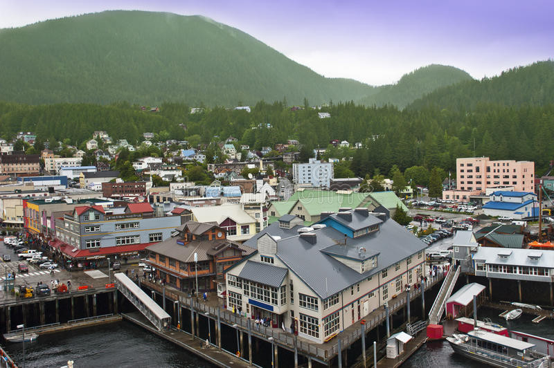 Ketchikan Alaska Cruise Ship Stop Inside Passage royalty free stock image