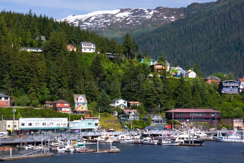 Ketchikan Alaska schronienie obrazy stock