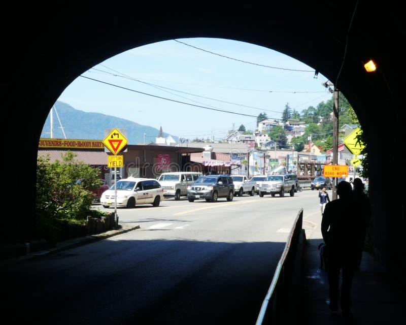 Ketchikan, túnel de Alaska a ninguna parte foto de archivo