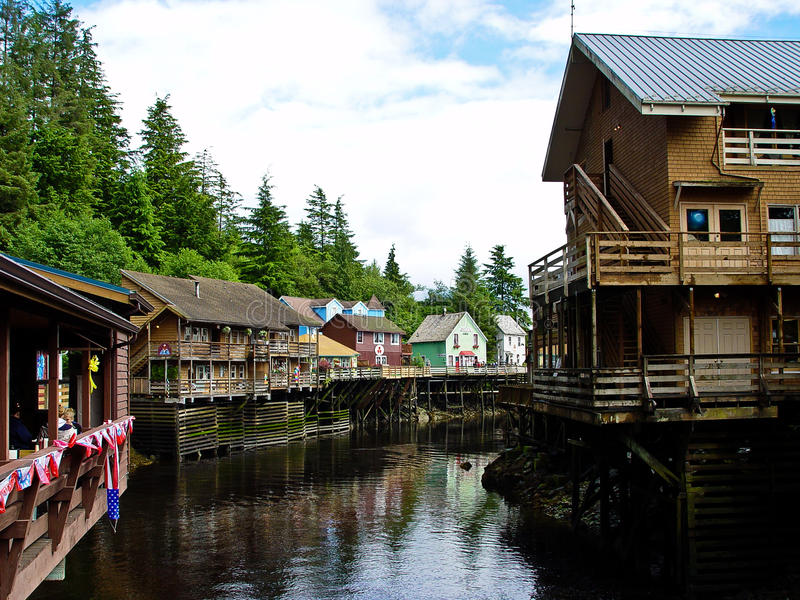 Ketchikan on the water stock image