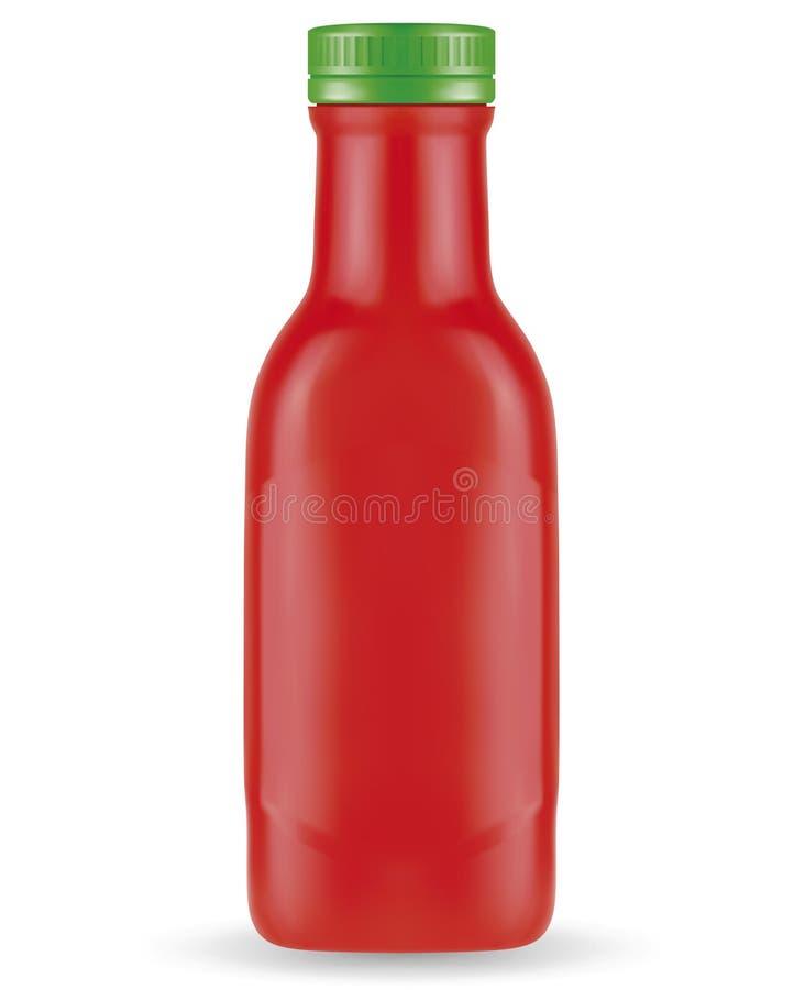 ketchup vektor illustrationer