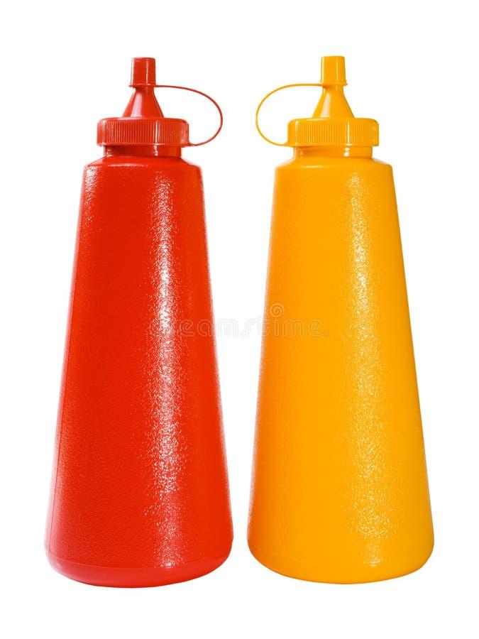 Ketchup & mostarda fotos de stock