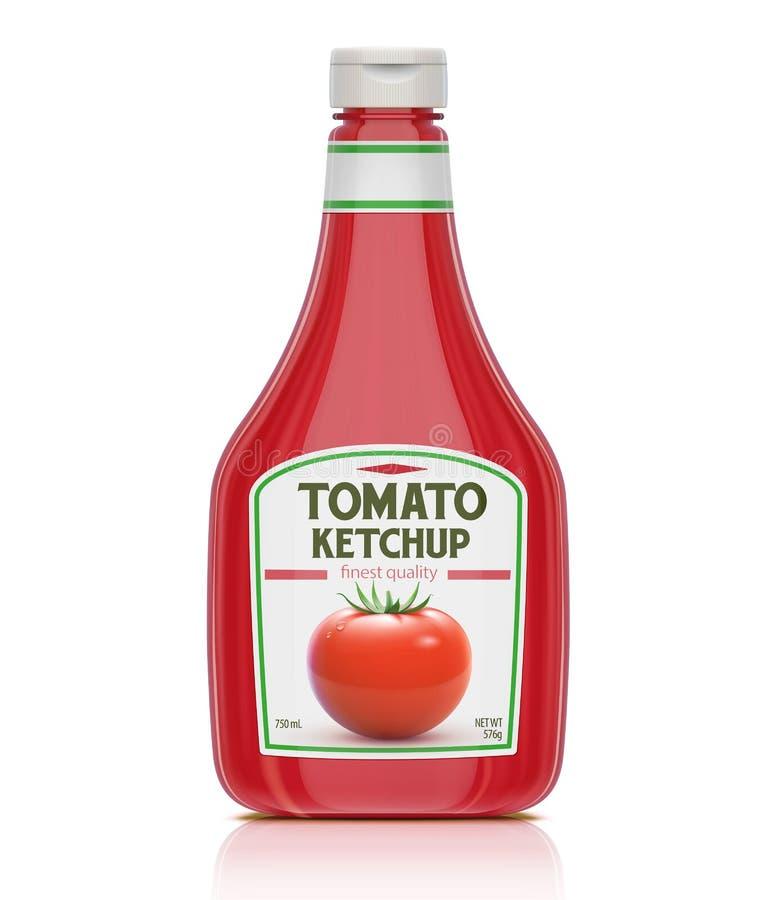 Ketchup buteljerar royaltyfri illustrationer