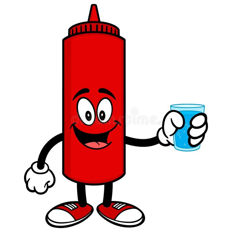 ketchup with a cup of water stock vector illustration of bottle rh dreamstime com heinz ketchup clipart heinz ketchup clipart