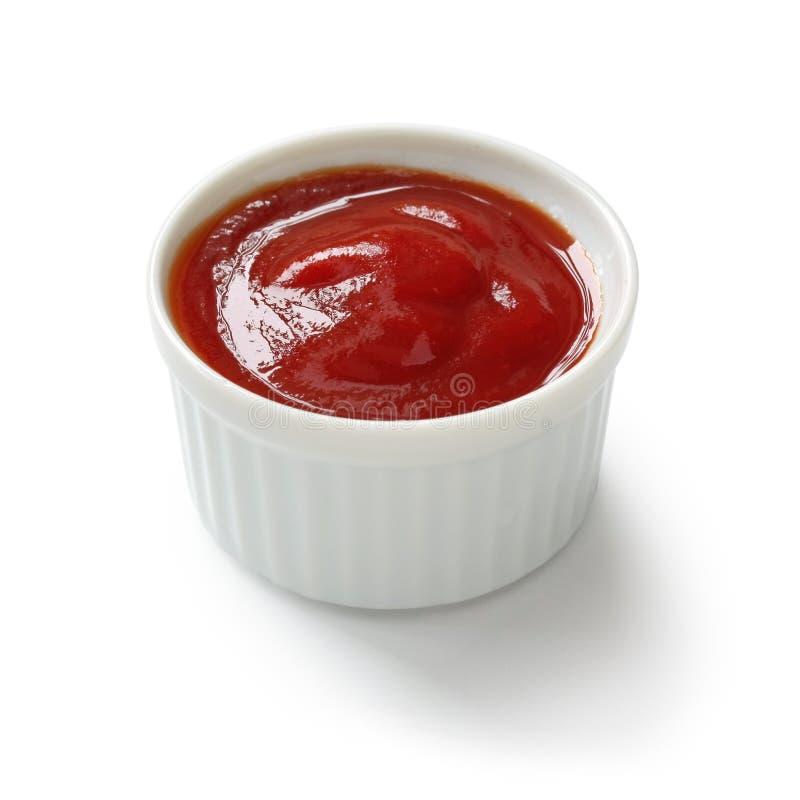 Ketchup di pomodoro in ramekin immagine stock libera da diritti