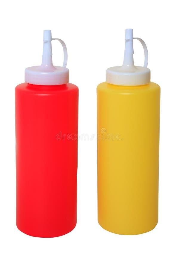 Download Ketchup en Mosterd stock foto. Afbeelding bestaande uit geïsoleerd - 114225404