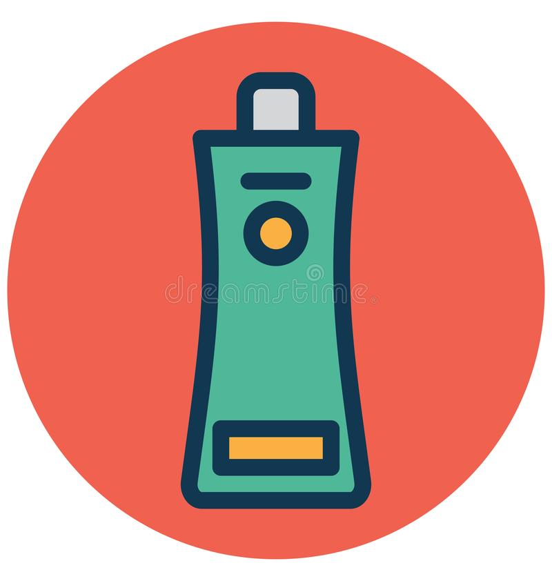Ketchup hårbalsam isolerade vektorsymbolen som kan lätt ändra eller redigera royaltyfri illustrationer