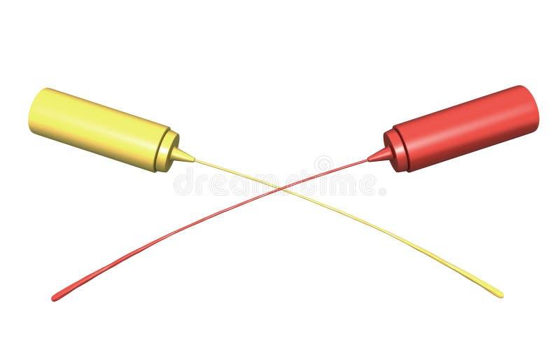 Download Ketchup And Mustard Crossing Streams Stock Illustration - Image: 23565041