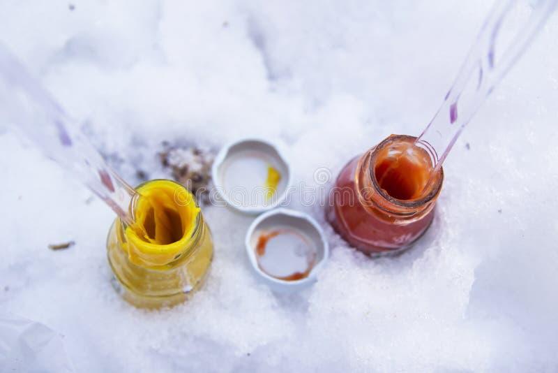 Download Ketchup And Mustard In Jars Stock Image - Image of ketchup, mustard: 39507593