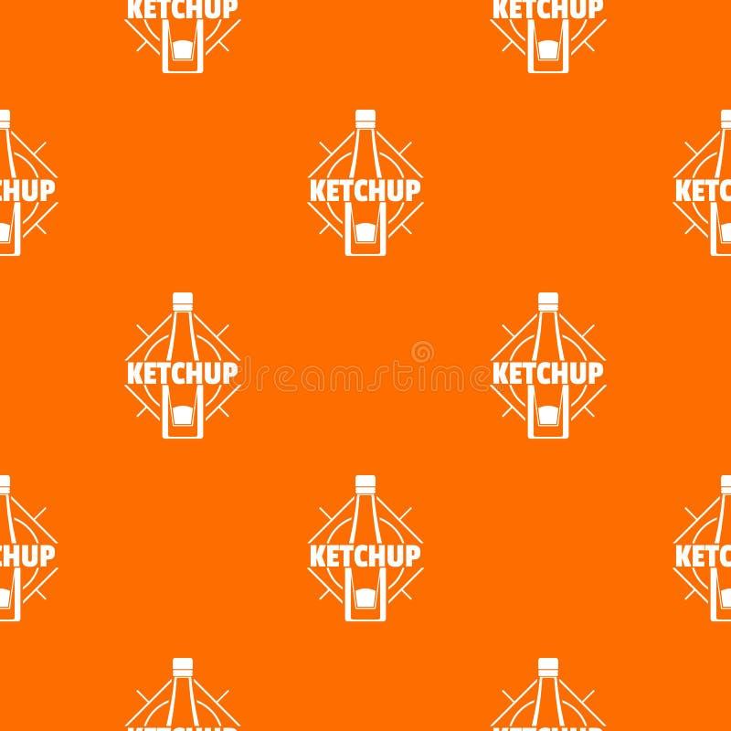 Ketchup pattern vector orange. For any web design best royalty free illustration
