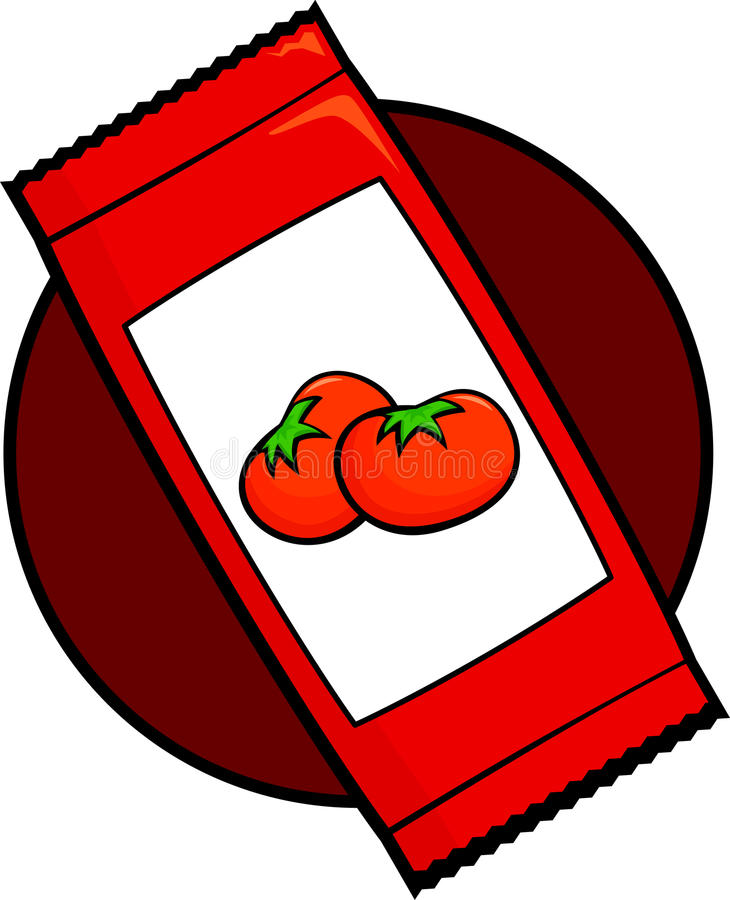 Download Ketchup sachet stock vector. Image of container, plastic - 21111246
