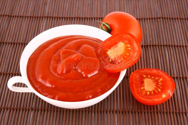 Ketchup-tomaat deeg stock afbeeldingen