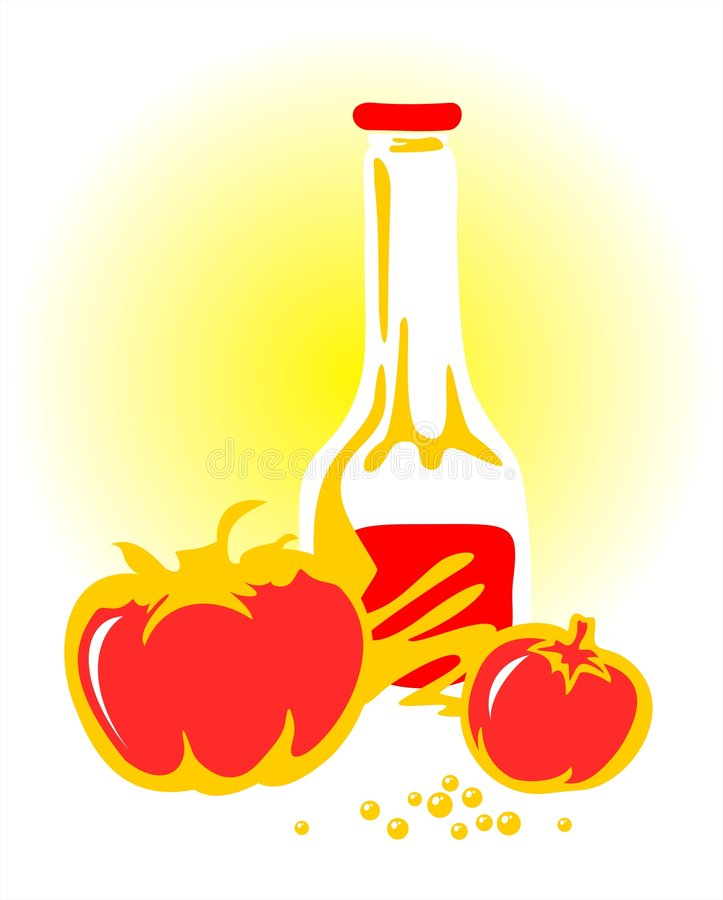 Download Ketchup and tomatoes stock vector. Image of delicacy, drawing - 3030822