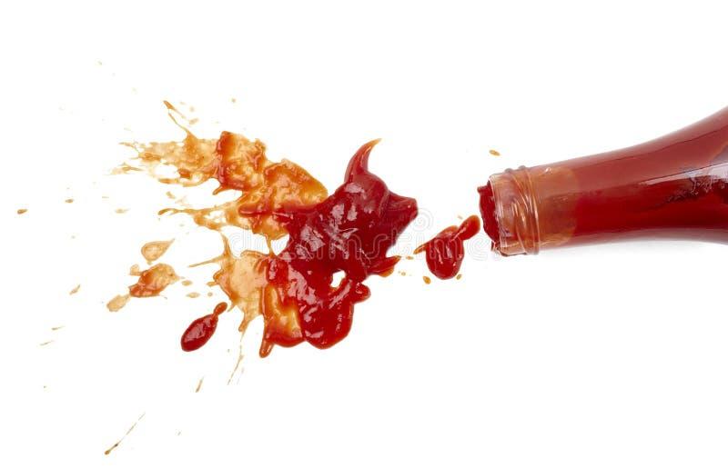 ketchupfläck royaltyfria foton