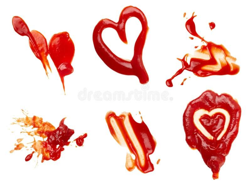 ketchupfläck arkivbild