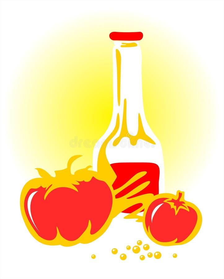 ketchuptomater royaltyfri illustrationer