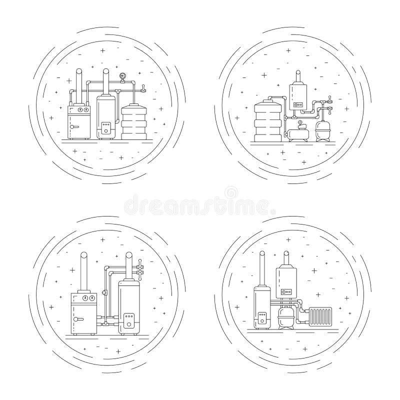 Ketelruimvector stock illustratie
