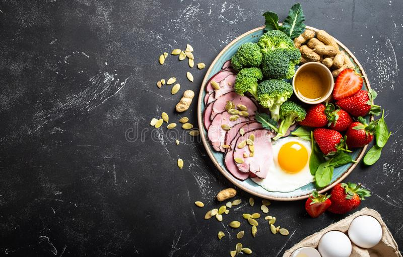 Keto diet concept royalty free stock image