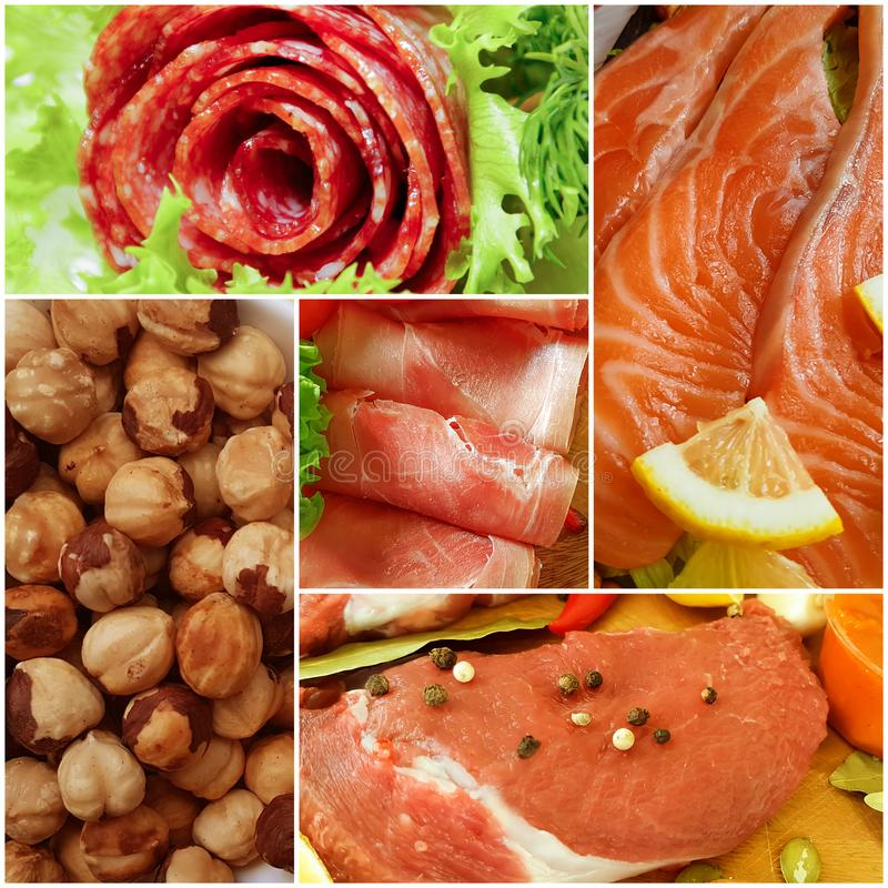 keto diet food collage nutrition ketogenic stock images